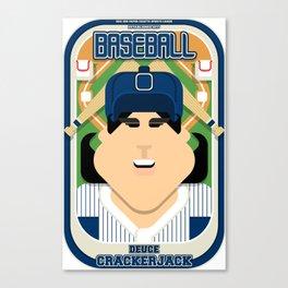 Baseball Blue Pinstripes - Deuce Crackerjack - Amy version Canvas Print