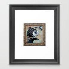 raven witch Framed Art Print