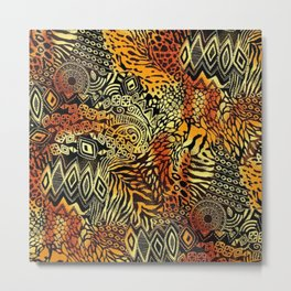 Africa style pattern Metal Print