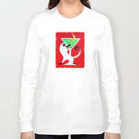 martini Long Sleeve T-shirts featuring Moon Martini by Gem S Visionary