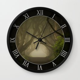 Mysterious alley at dawn Wall Clock