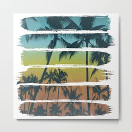 Tropical Brush Strokes II Metal Print