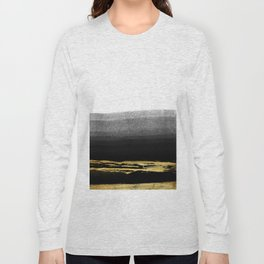 Black & Gold Stripes on White - Mix & Match with Simplicty of life Long Sleeve T-shirt