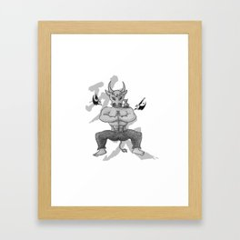KungFu Zodiac - Rat and Ox Framed Art Print