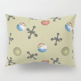 jacks and balls pattern green Pillow Sham
