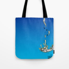 The Skydiving Mummy Tote Bag