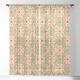 Tangerine Confetti Sheer Curtain