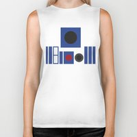 r2d2 Biker Tanks featuring R2D2 by VineDesign