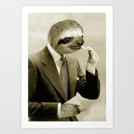 Gentleman Sloth 9# Art Print