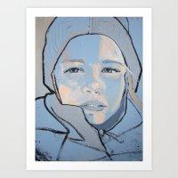 Eisbär Art Print