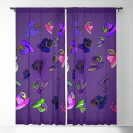 Donuts and Witch Hat Multi Blackout Curtain