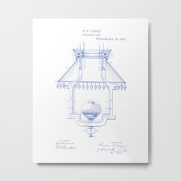Extension Lamp Fixture Vintage Patent Hand Drawing Metal Print