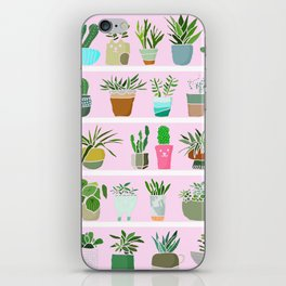 Shelfie cactus print iPhone Skin