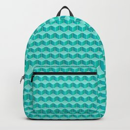 Ocean cubes, a symmetric pattern inspired by the sea. Backpack