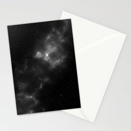 black & white space Stationery Cards
