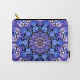 Summer sky Delphinium mandala Carry-All Pouch