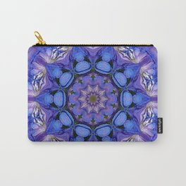 Summer sky Delphinium mandala Carry-All Pouch