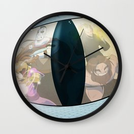 """Rollin' Deep in the Dragon's Keep"" - Dungeons & Doritos Wall Clock"