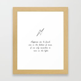 you can find happiness Framed Art Print