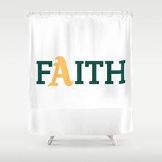 Oakland A's Faith Shower Curtain