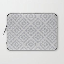 Stair Step Diamond Geometric Tribal in Grey Laptop Sleeve