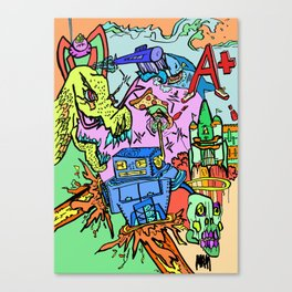 A+ Tension (Attention) Canvas Print