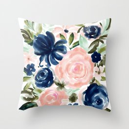 SMELLS LIKE MYSTERY Floral Throw Pillow