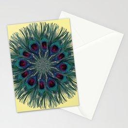 Peacock Feather Mandala Stationery Cards