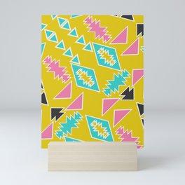 Geometric sunbathing Mini Art Print