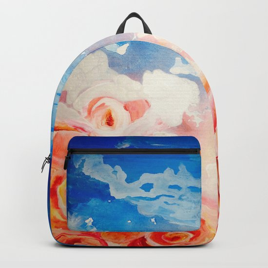Peachy Roses Backpack