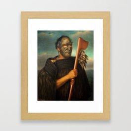 Tamati Waka Nene by Gottfried Lindauer, 1890 Framed Art Print