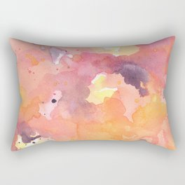 Abstract Watercolor Colorful Painting Rectangular Pillow