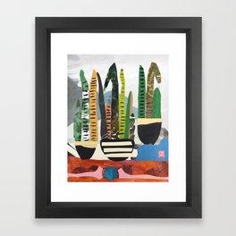 Snake Plant Mountain Framed Art Print