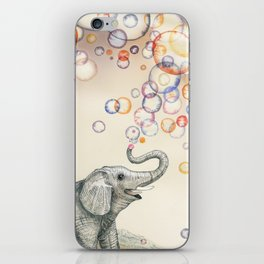 Elephant Bubble Dream iPhone Skin