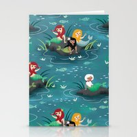 mermaids Stationery Cards featuring Mermaids by Miss Fortune