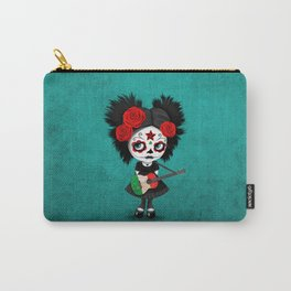 Day of the Dead Girl Playing Italian Flag Guitar Carry-All Pouch