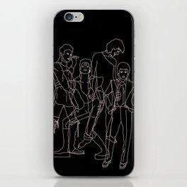 Davie Bowie Line Print iPhone Skin