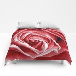 Pink Rose Macro Comforters