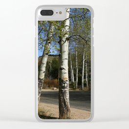 Aspen in Spring Clear iPhone Case