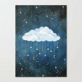 Dreams made of Moon and Stars Canvas Print