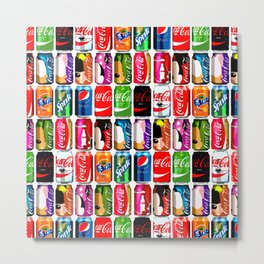 Pop Cans #1 Metal Print