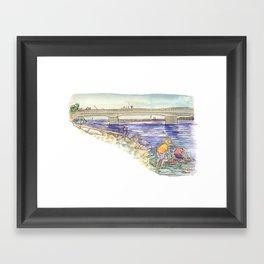 Mussel Hunters Framed Art Print