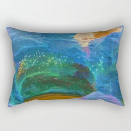 Abstract beautiful rock pools in the late afternoon Rectangular Pillow