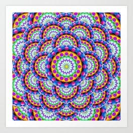 Mandala Psychedelic Visions G324 Art Print
