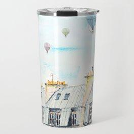 Architecture Paris and air balloon watercolor Travel Mug