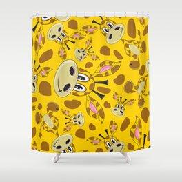 Cute Cartoon Giraffe Pattern Shower Curtain