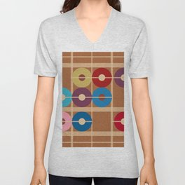 Counting Donuts Unisex V-Neck