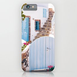 Santorini, Floral Garden iPhone Case