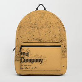 Map of Sausalito 1868 Backpack