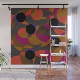 80s Classy Circle Retro Fashion Silk Shirt Wall Mural